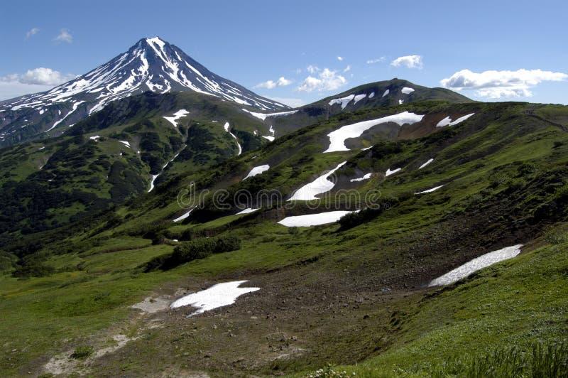 вулканы гор kamchatka стоковые изображения rf