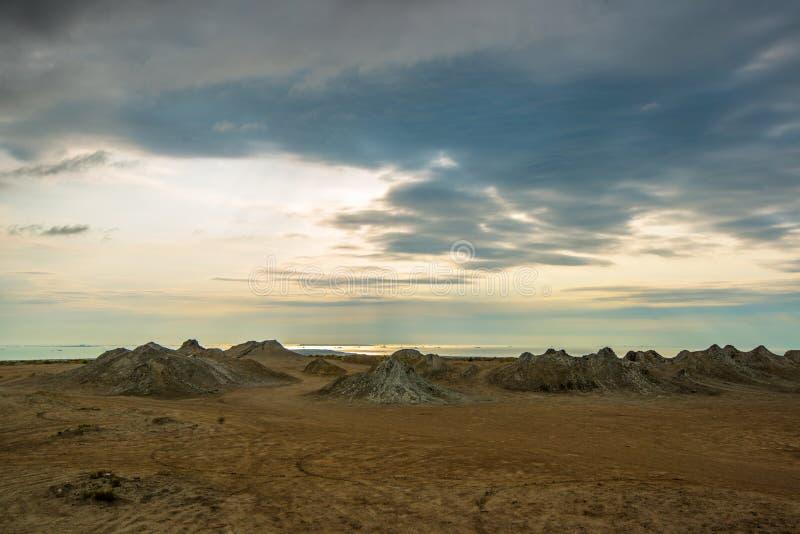 Вулканы грязи Азербайджана стоковое фото rf