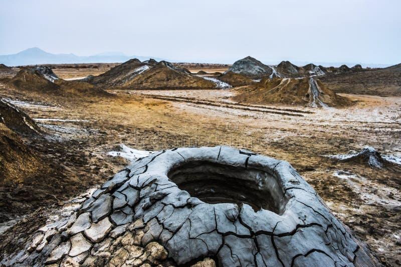 Вулканы грязи Gobustan стоковое изображение rf