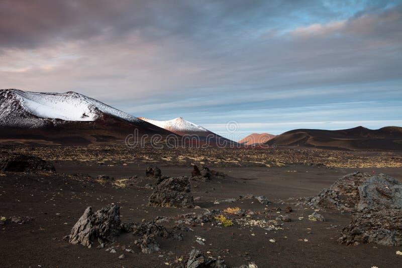 Вулканы Камчатки стоковая фотография rf