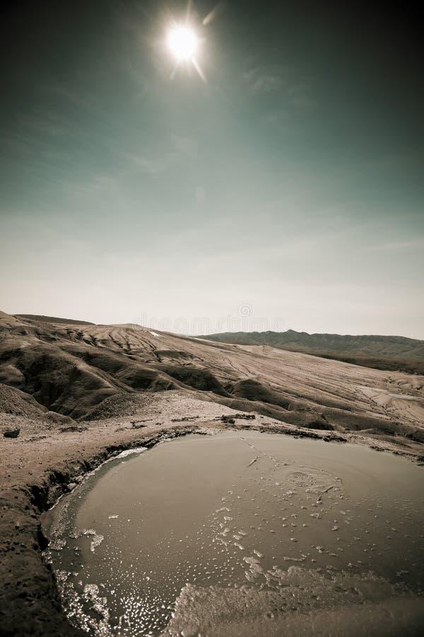 вулканы Румынии грязи buzau стоковые изображения rf