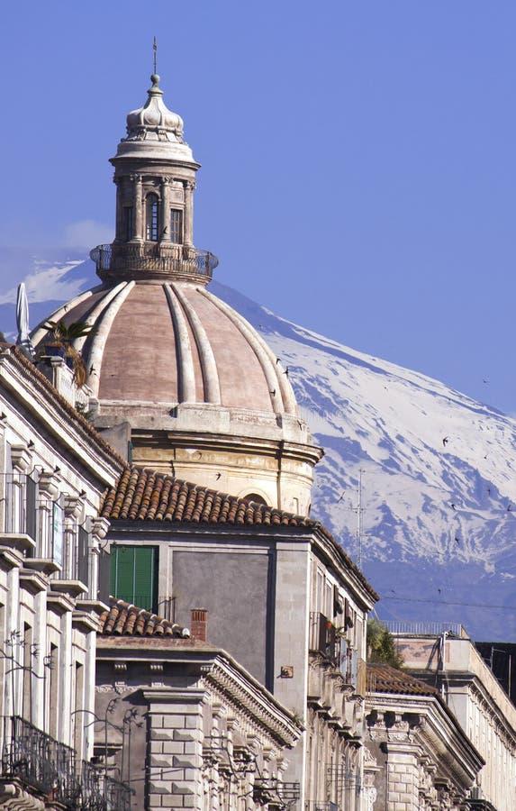 вулкан взгляда catania etna стоковое изображение