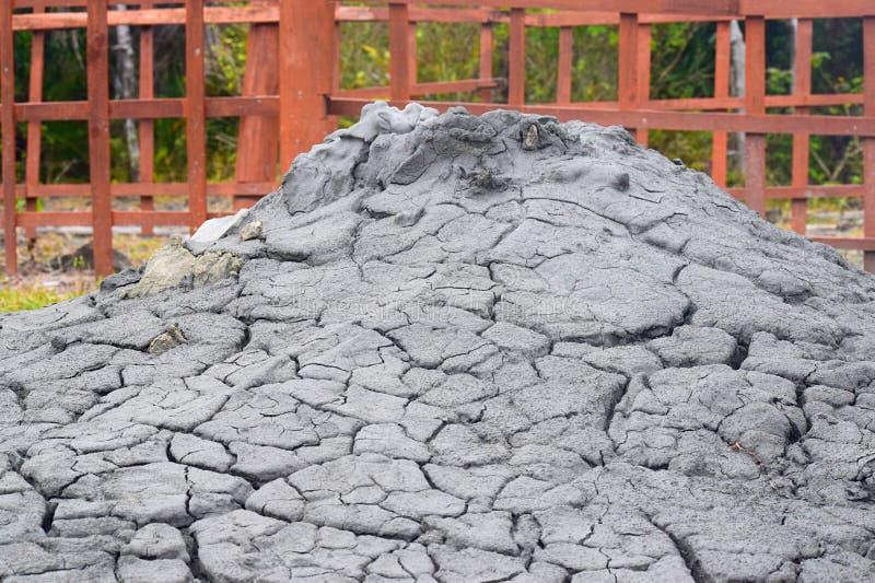 Вулкан грязи - остров Baratang, острова Andaman Nicobar, Индия стоковое изображение