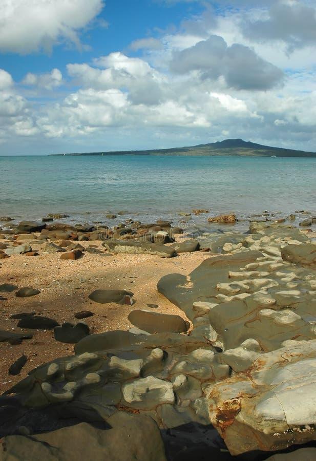 вулкан моря стоковая фотография