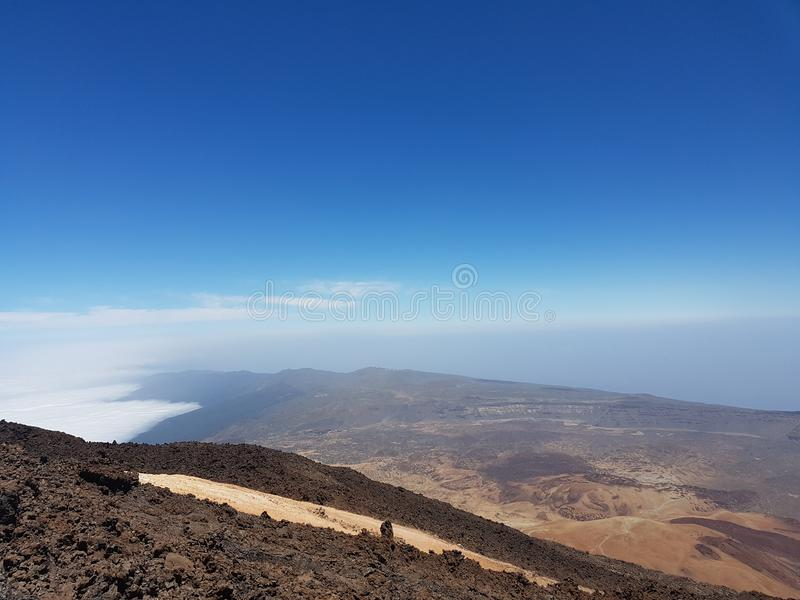 Вулкан на Тенерифе стоковое изображение rf