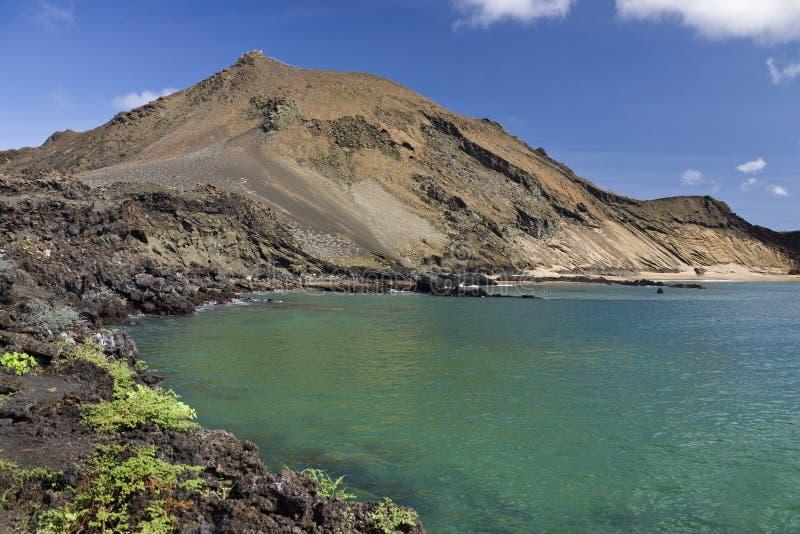 вулкан островов galapagos bartolome стоковое фото
