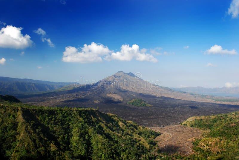 вулкан пейзажа стоковые фотографии rf