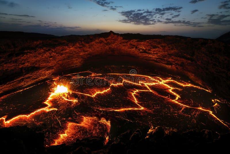 Вулкан Эфиопия эля Erta стоковая фотография rf