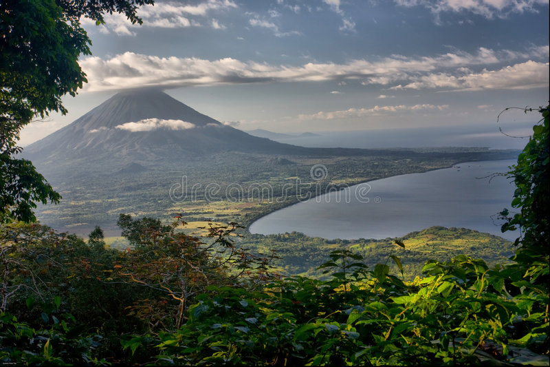вулкан concepcion Никарагуаа стоковые изображения rf