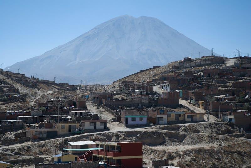 Вулкан El Misti, Arequipa, Перу стоковые фотографии rf