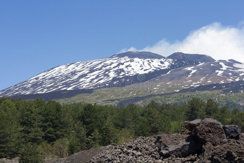 вулкан etna стоковое фото