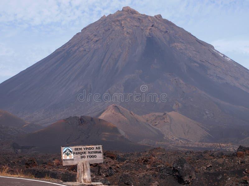 Вулкан Fogo в острове такого же имени, архипелаге Кабо-Верде стоковая фотография