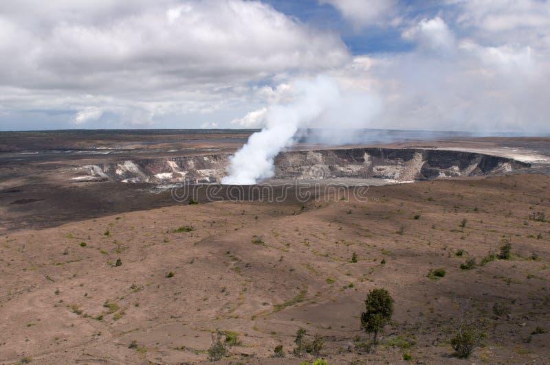 вулкан kilaeua Гавайских островов halemaumau кратера стоковые фото