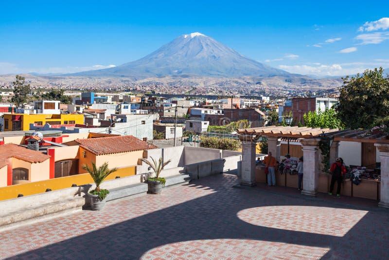 Вулкан Misti стоковая фотография rf