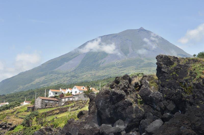 вулкан pico Азорских островов стоковое изображение rf