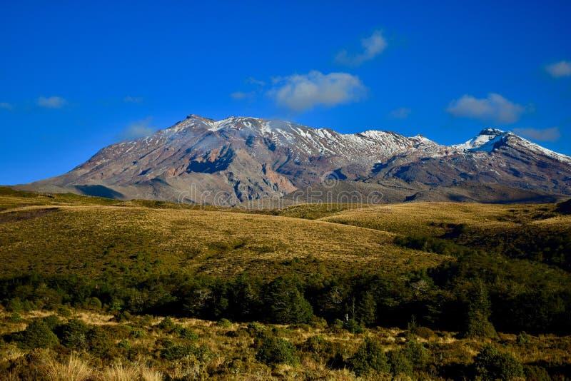 Вулкан Ruapehu на национальном парке Tongariro, Новой Зеландии Это часть Тихог стоковая фотография