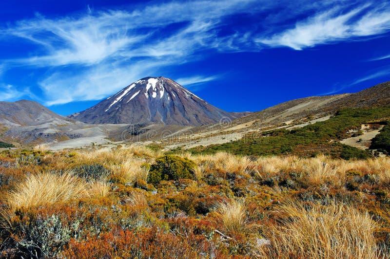 вулкан tongariro np ngauruhoe стоковая фотография