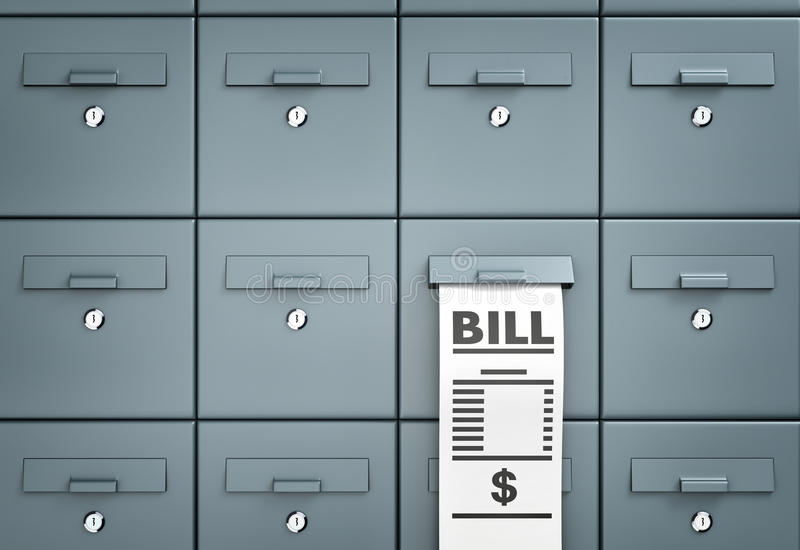 двухстороннего mailboxes схематическая различная метафора изображения 3d бесплатная иллюстрация