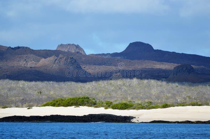 Вулканические конусы гари в Галапагос стоковая фотография rf