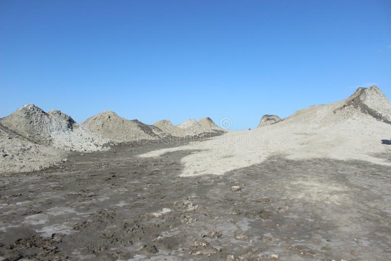Вулканы грязи Qobustan стоковое изображение rf