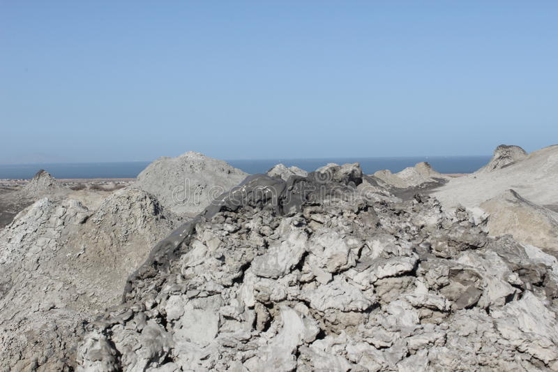 Вулканы грязи Qobustan стоковая фотография rf