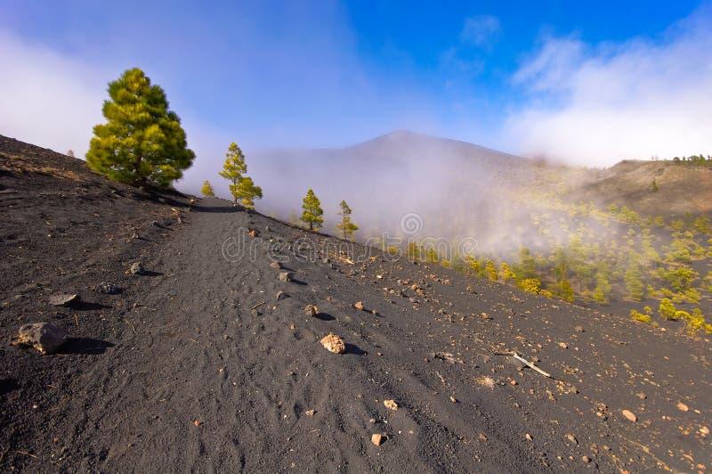 Вулканы направляют в острове Palma Ла, Испании стоковые изображения rf