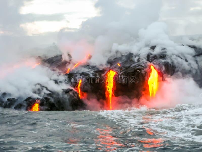Вулкан Гаваи Kilauea стоковые фото