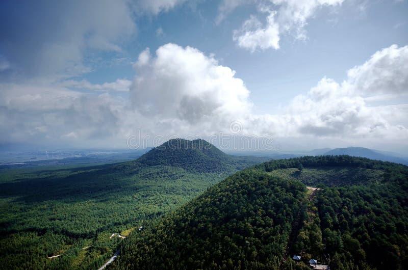Вулкан городка Heshun мертвый стоковое изображение