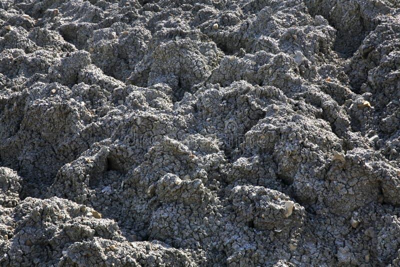 Вулкан грязи в Lokbatan около Баку пустословия стоковые фотографии rf