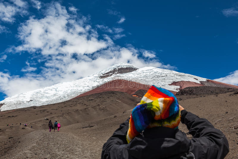 Вулкан Котопакси стоковое изображение