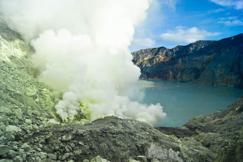 Вулкан Ijan стоковые фотографии rf