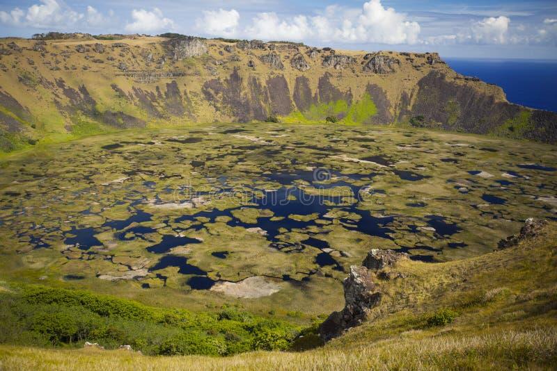 Вулкан Kau Rano стоковая фотография rf