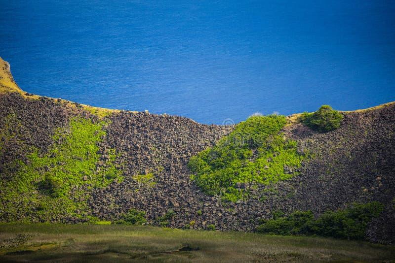 Вулкан Kau Rano стоковое изображение rf