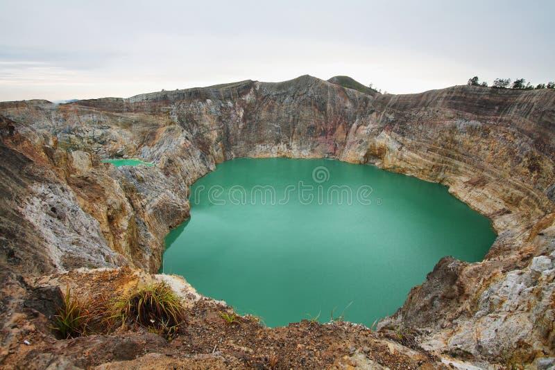 Вулкан Kelimutu стоковые изображения rf