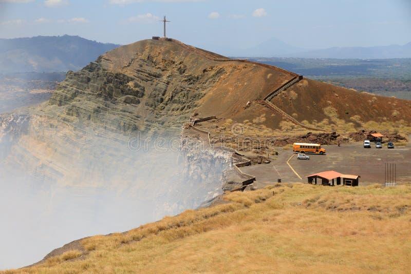 Вулкан Masaya извергая стоковые изображения rf