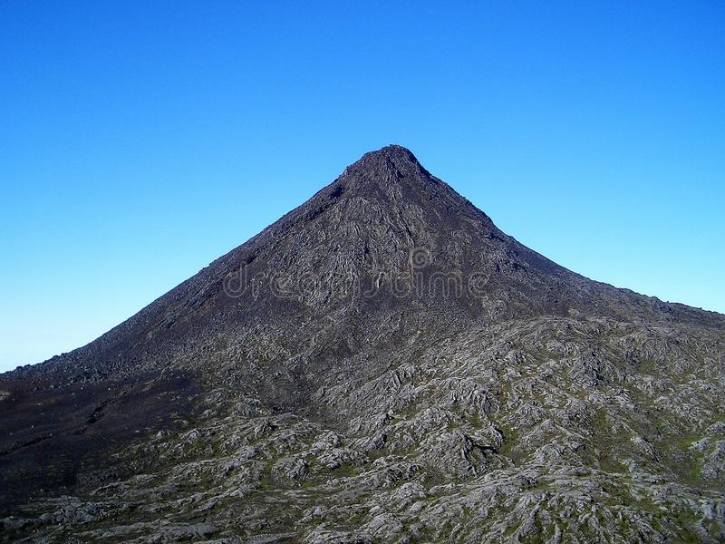 Вулкан Pico стоковое фото rf