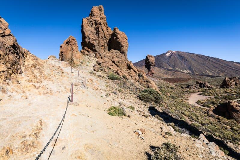 Вулкан Pico del Teide, национальный парк El Teide, Тенерифе, канерейка стоковые фото
