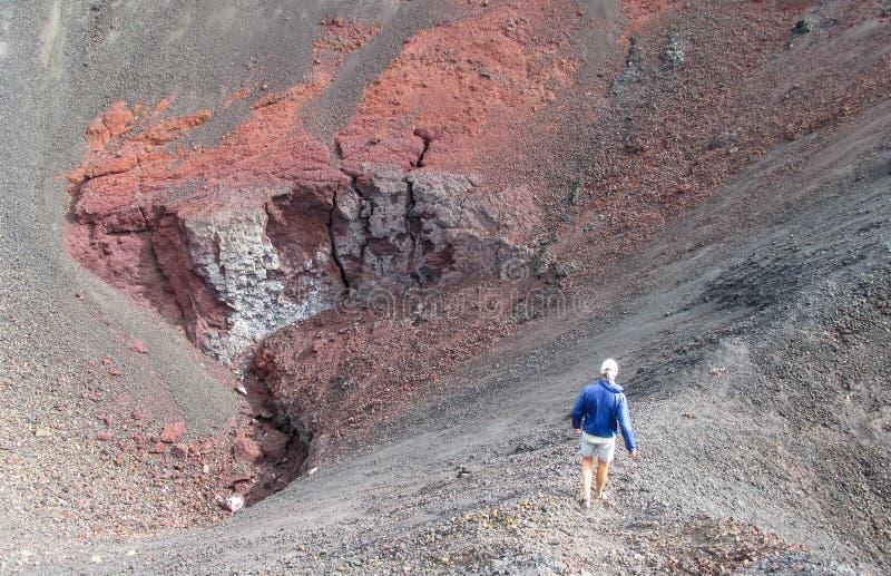 Вулкан trekking в Чили стоковая фотография rf