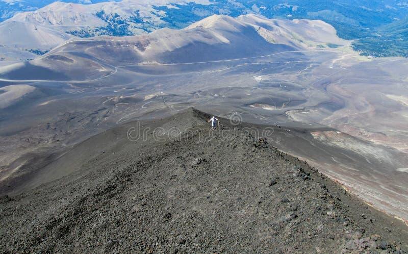 Вулкан trekking в Чили стоковая фотография