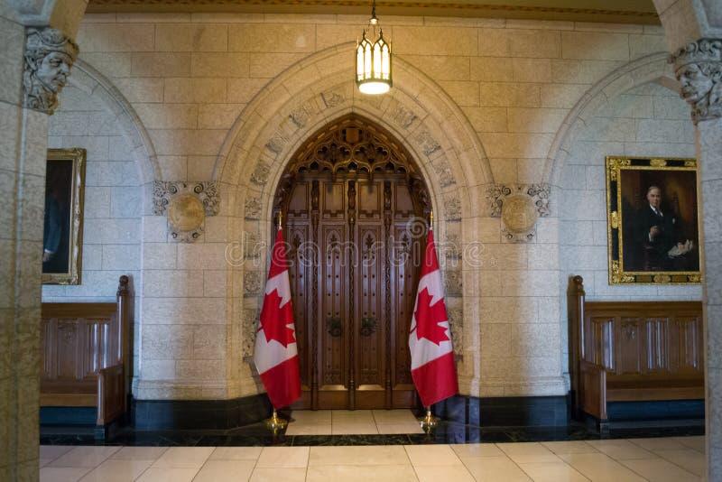 Входная дверь к Палате Общин Канады 20-ое августа 2018 стоковые фотографии rf