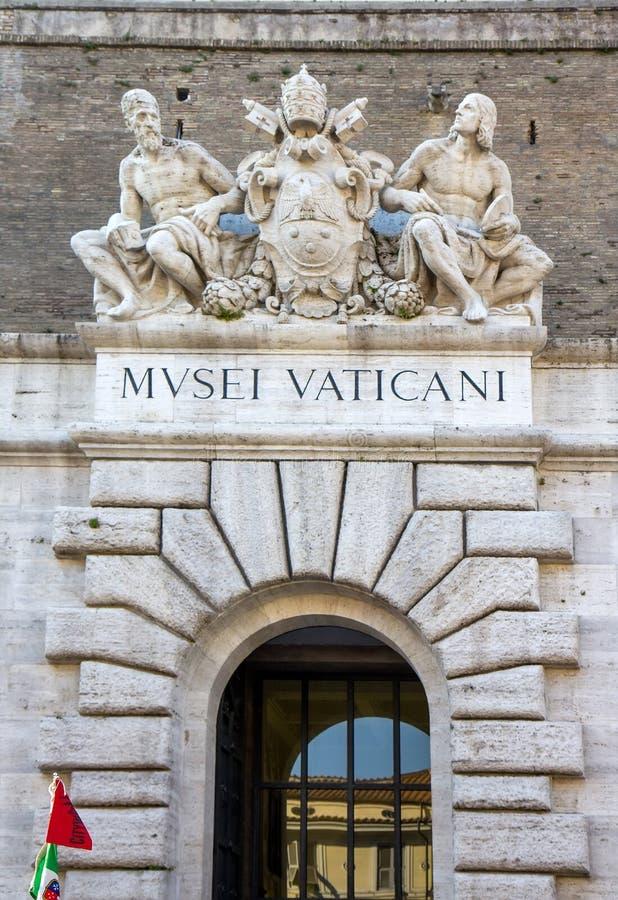 Входная дверь музея государства Ватикан, Ватикана стоковая фотография rf
