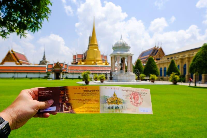 Входной билет к дворцу Бангкоку Таиланду изумительного виска исторического ориентира большому стоковые изображения rf