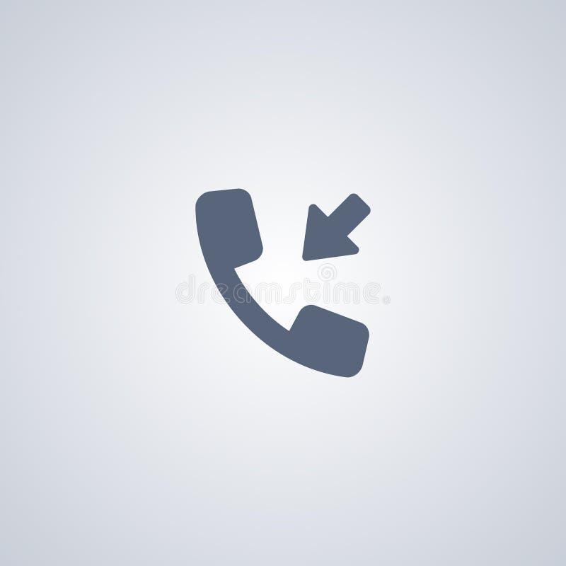 Входящий звонок, vector самый лучший плоский значок иллюстрация вектора