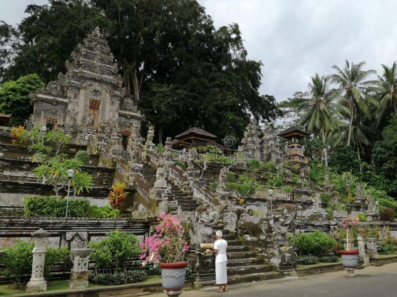Вход виска Pura Kehen, индусский висок в Бали, Индонезии стоковая фотография rf