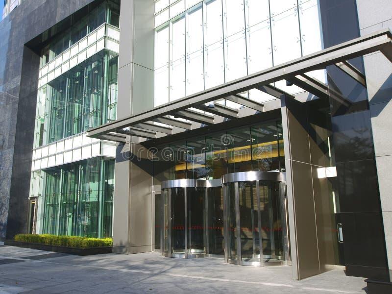 вход здания самомоднейший стоковое изображение rf