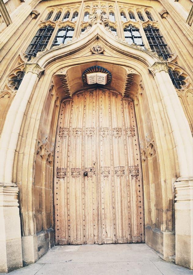 Вход к библиотеке Radcliffe, Оксфорду, Англии стоковое фото rf