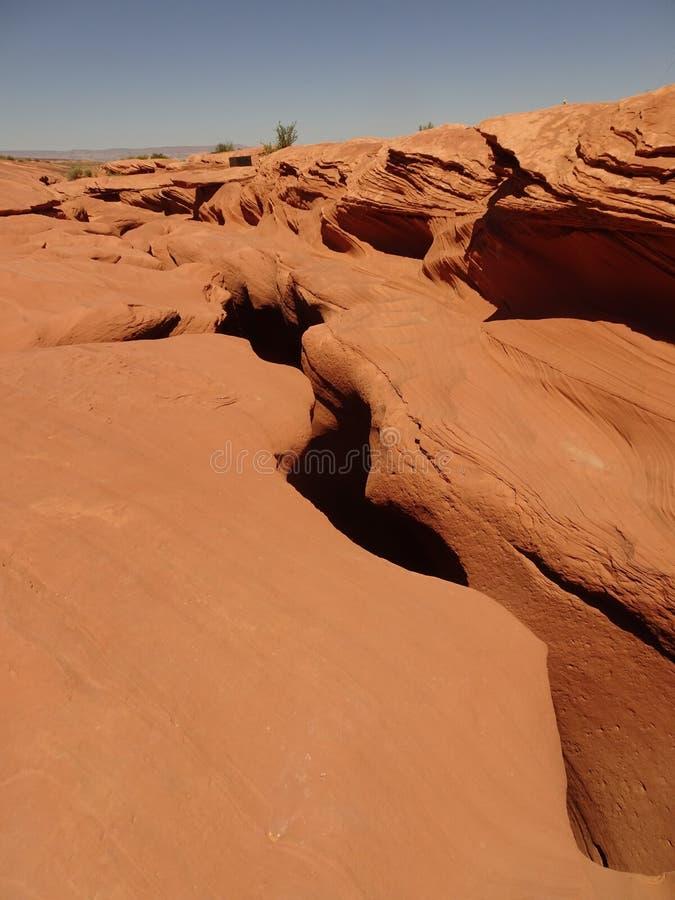 Вход к более низкому каньону антилопы в странице, Аризоне, США стоковые фотографии rf
