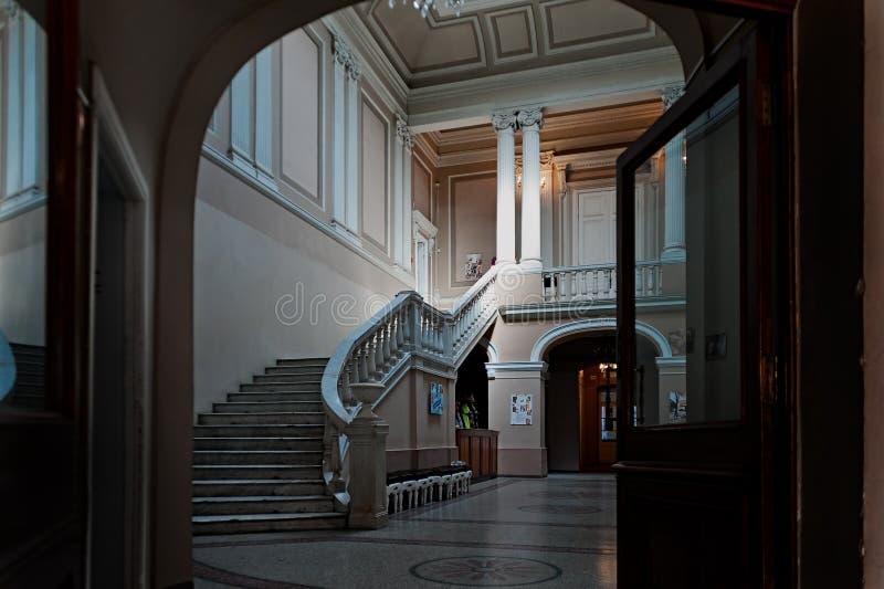 Вход к литературоведческому музею в Odesa Украине стоковые фотографии rf