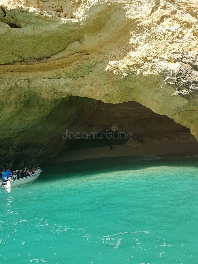 Вход к пещере Benagil стоковые фото