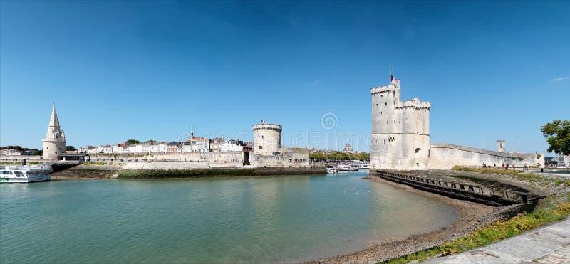 Вход к порту La Rochelle в Франции стоковое фото rf